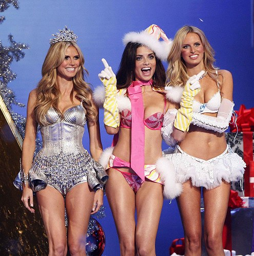 Heidi Klum, Adriana Lima and Karolina Kurkova at Victoria's Secret 2007
