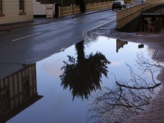 Flood outside Temeside House