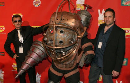 Me as Big Daddy with Ken Levine and Greg Gobi at the Spike VGAs