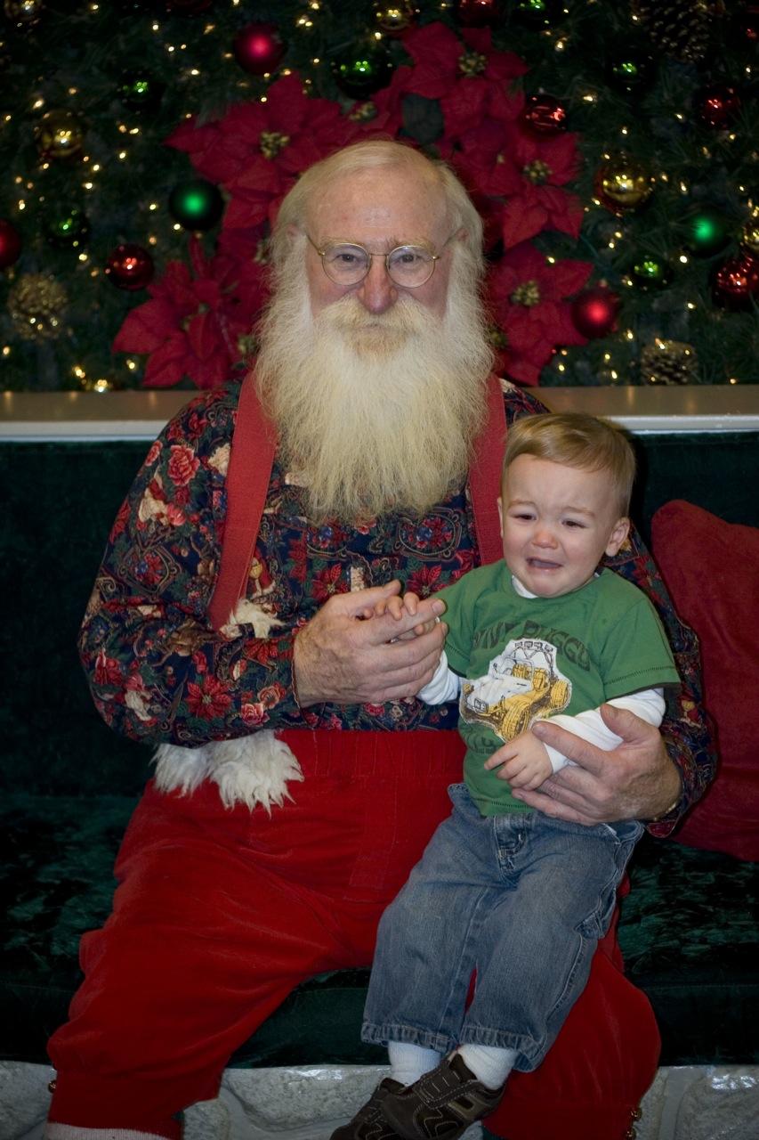 Drew with Santa