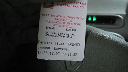 J'ai un ticket
