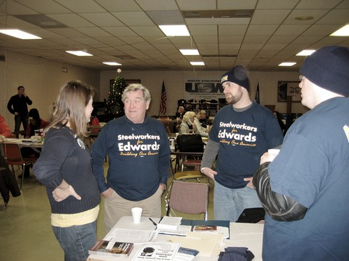 USW canvassers in Des Moines