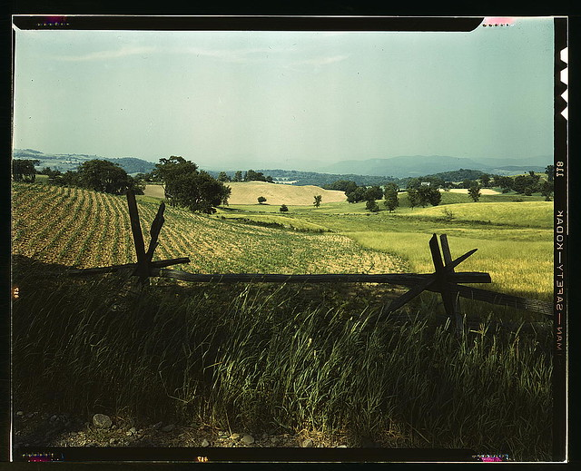 Farmland in the Taconic range, near the Hudson River Valley in New York state (LOC)