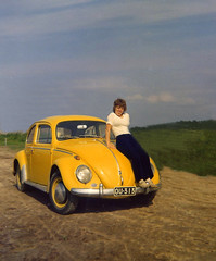Me and my first car (1972) (Vaeltaja) Tags: auto old summer car yellow suomi finland volkswagen beetle scanned 1957 1972 donaldduck soe kes vanha smrgsbord akuankka kupla keltainen golddragon skannattu shieldofexcellence superbmasterpiece kuplavolkkari