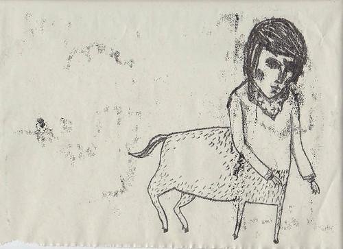 centaur monoprint