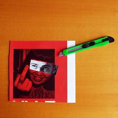 tricolore (duineser) Tags: italy verde collage magazine photo italia fuckyou rosso bianco francobattiato cutter politica policy tricolore vaffanculo poverapatria taglierino