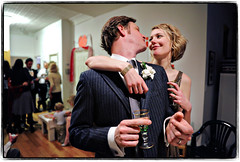 Intertwined (Ryan Brenizer) Tags: newyorkcity wedding love smile brooklyn groom bride nikon candid january brooklynheights reception 2008 d3 weddingphotojournalism 2470mmf28g evaandlane