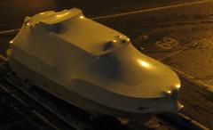 boat stockholm shrinkwrapped