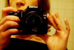 My new toy (Chris[sy) Tags: camera selfportrait nose mirror hand pentax fingers k10d pentaxk10d