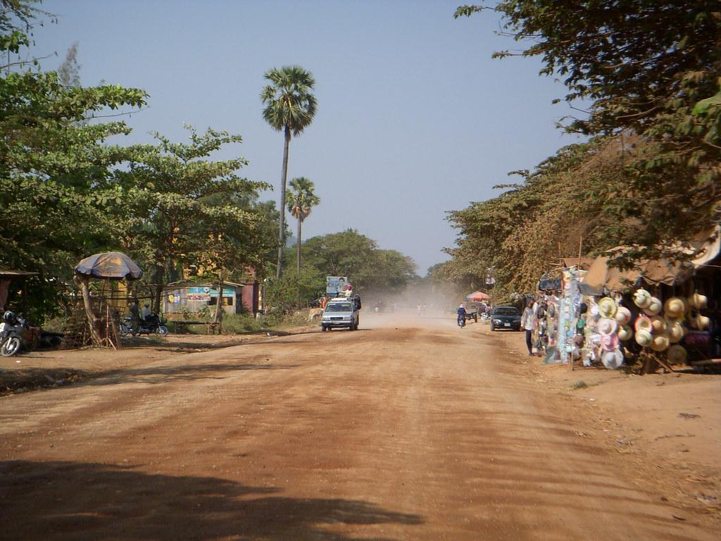 un pueblo en el camino