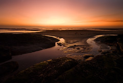 Nuclear Sunset (BarneyF) Tags: sunset sea reflection beach river landscape sand estuary dee wirral westkirby merseyside hilbreisland mywinners superaplus aplusphoto theunforgettablepictures