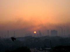 An Industrial sunrise 2 (asis k. chatt) Tags: sun sunrise blackbird rhizome naturalharmony firsttheearth wonderfulworldmix internationalgeographic