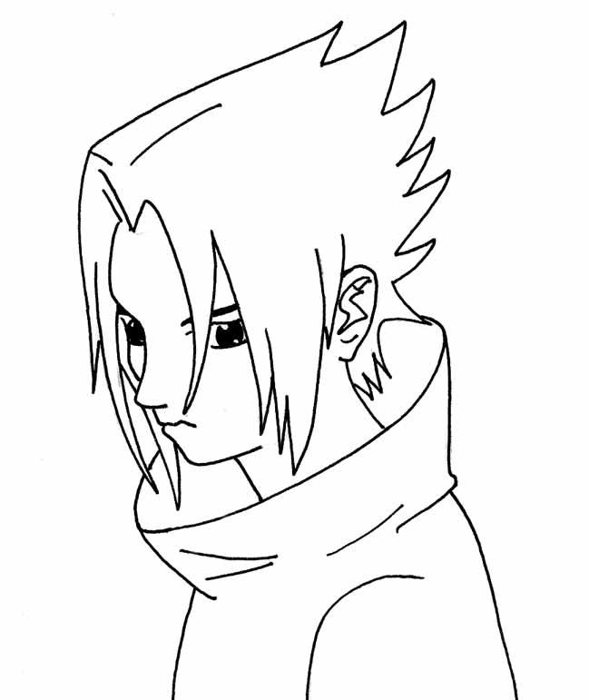 Descargar Sasuke para colorear
