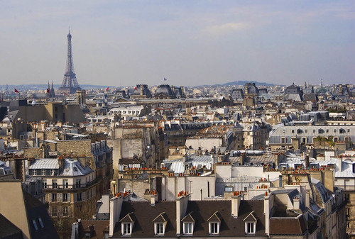 Rita Crane Photography:  Rooftops / Paris / Eiffel Tower / chimneys / buildings / urban landscape / architecture / View of Paris Rooftops & Eiffel Tower