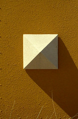 A Square Shadow (OhHappyDay!) Tags: light shadow orange abstract yellow square triangle diagonal