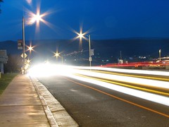 Busy Barstow Road (Barstow Steve) Tags: longexposure night traffic barstowroad utata:project=nocturnal2