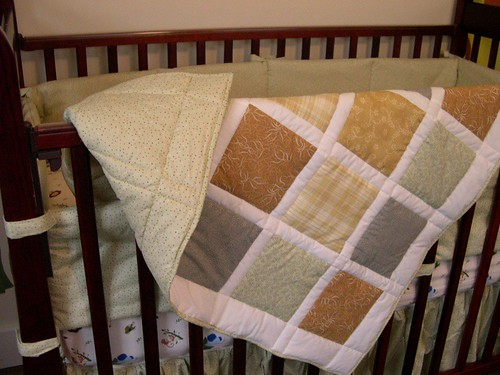 baby quilt in nursery