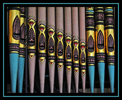 Buckland organ pipes (Lawrence OP) Tags: pink red gold turquoise painted pipes organ oxfordshire buckland stmarys firstquality