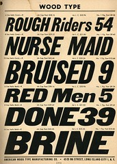 Bruised Red Men (Depression Press) Tags: foundry vintage typography gothic font type catalog lettering condensed specimen typeface italic metaltype woodtype depressionpress americanwoodtype