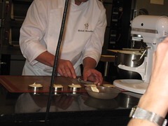 Pierre Hermé: Mickaël was molding the vanilla mascarpone cream for Vanilla Tart