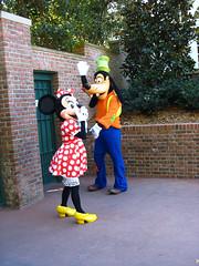 Minnie and Goofy (disneylori) Tags: goofy epcot disney disneyworld characters minniemouse wdw waltdisneyworld worldshowcase disneycharacters canonpowershota610 nonfacecharacters meetandgreetcharacters