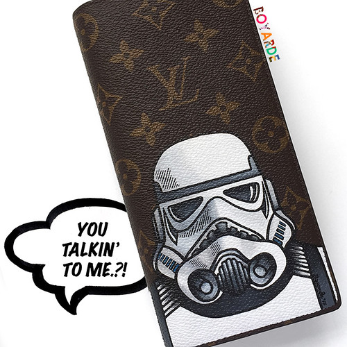 Storm trooper Louis Vuitton men's wallet montage copy