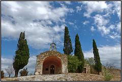 La chapelle Ste Sixte -  The chapel of Saint Sixte (diaph76) Tags: france extérieur paysage landscape chapelle ciel sky nuages clouds arbres trees cyprès cypress chapel bouchesdurhône eygalières religions