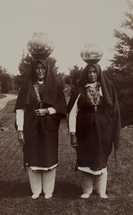 Water Carriers, Isleta Pueblo, New Mexico (Museum of Photographic Arts Collections) Tags: two water standing outdoors women jewelry blanket pottery balance museumofphotographicarts