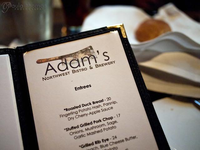 Adam's Menu