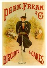 Peek , Frean & Co's Biscuits & Cakes Advert (Mark Gell) Tags: bicycle vintage advertising poster cycling postcard retro cycle advert postcards posters peek adverts frean