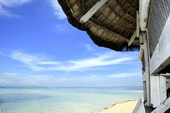 Pandanon (Farl) Tags: wood travel sea sky colors clouds island sand paradise horizon philippines hut bohol nipa pandanon gitafe jetafe