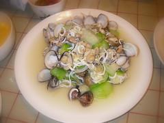 蛤蜊絲瓜炒吻仔魚