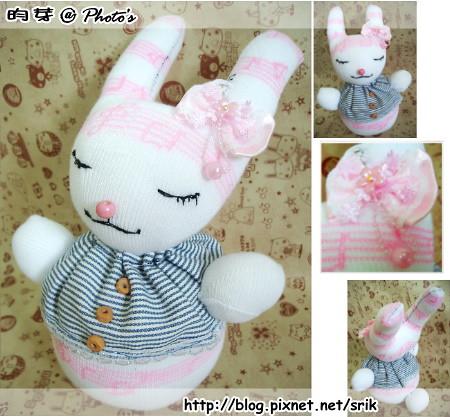 襪子娃娃。圓音兔