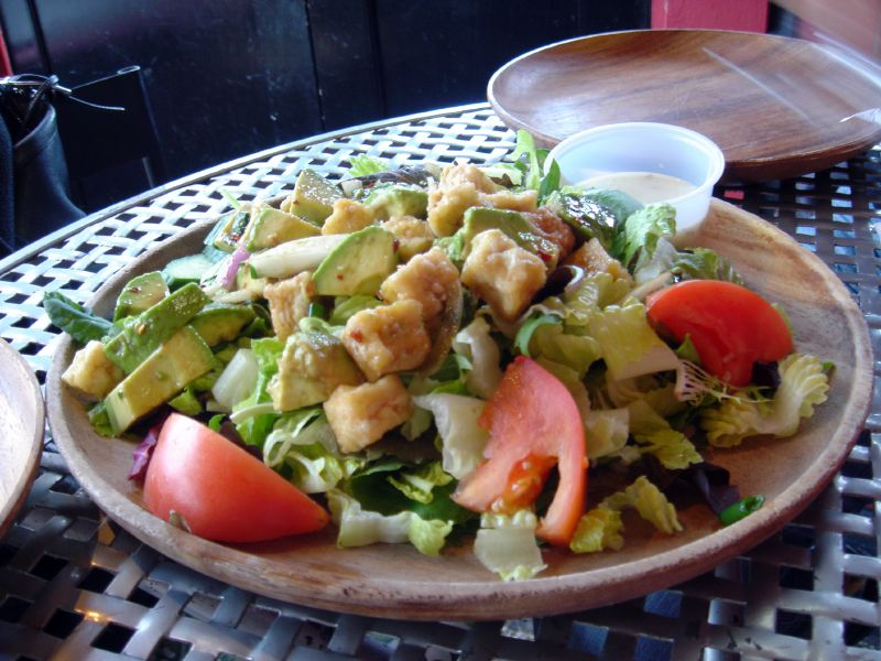 Tofu & Avocado Salad w/Maui Onion Dressing