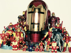 Iron Legion (ElDave) Tags: macro toy toys actionfigure ironman collection marvel marvelcomics urbanacid