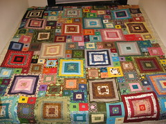 Finished Quilt Top 2 (Kakki Kakki) Tags: quilt sewing logcabin fabric patchwork scrap