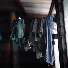 (*YIP*) Tags: house 120 6x6 film mediumformat square clothing asia kodak laundry pro clothesline domesticscenes drying expiredfilm dwelling kiev60 iso160 yipchoonhong