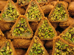 pistamosaic (alixanaeuphoria) Tags: lebanon food dessert airport pistachio sweets beirut baklava baklawa