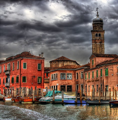 Murano Storm (vgm8383) Tags: venice fab italy storm color brick tower water glass rain architecture clouds canon rebel boat canal factory pastel taxi vivid belltower gondola venetian murano watertaxi glassblowing venetianglass glassfactory themoulinrouge muranoglass blueribbonwinner supershot flickrsbest xti 400d abigfave rebelxti platinumphoto anawesomeshot diamondclassphotographer flickrdiamond megashot theperfectphotographer thegardenofzen top20vivid venetianclass