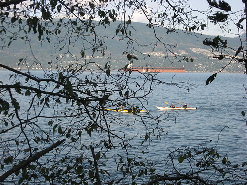 Kayakers on English Bay