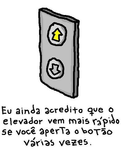 botão do elevador