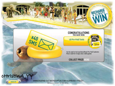 optus recharge and win