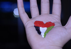 My Heart (aZ-Saudi) Tags: red white black color green blood nikon hand heart uae palm arabic emirates explore saudi arabia d200 ksa my arabin arabs