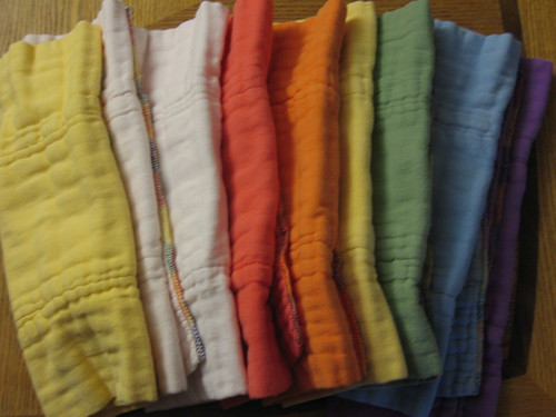 Rainbow short prefolds