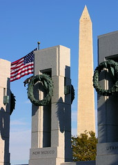 World War II Memorial and Washington Monument