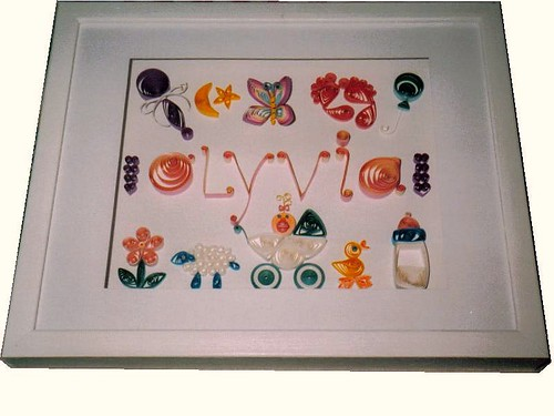 Paper Quilling 11X14 Olyvia