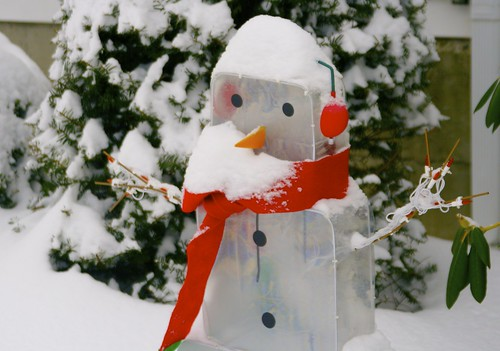 Post Storm Snowman