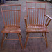Cherry Birdcage Windsor Arm and Side Chair