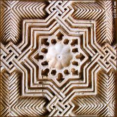 Alhambra patterns (Sir Cam) Tags: geometric spain patterns muslim islam andalucia alhambra moorish granada moors islamic courtofthelions eidmubarak supershot sircam superbmasterpiece theperfectphotographer alhamr