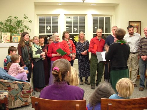 Potluck Singers at the library